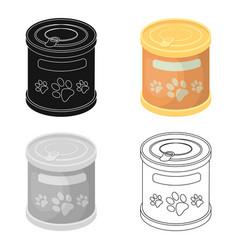 Food for animalspet shop single icon in cartoon vector