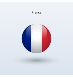 France round flag vector image vector image