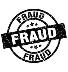 Fraud round grunge black stamp vector