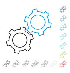 Gears stroke icon vector