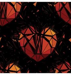 Geometric 3d broken heart vector