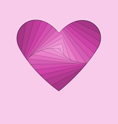 Hand-made paper folding heart isolated on violet vector