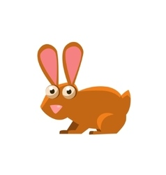 Hare Simplified Cute vector image vector image