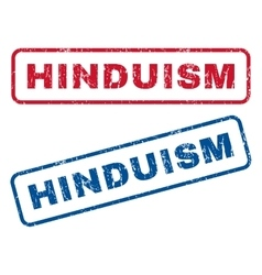 Hinduism rubber stamps vector