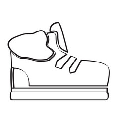 isolated winter shoe vector image