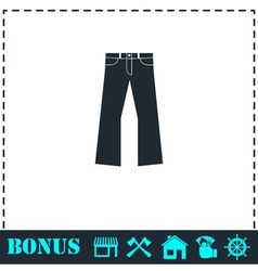 Jeans icon flat vector