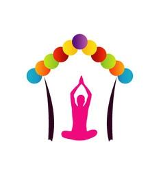 Logo for fitness center vector