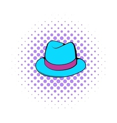 Men hat icon comics style vector