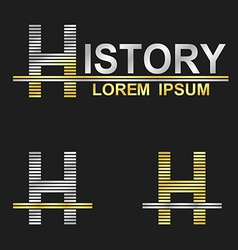 Metallic business font design - letter h vector