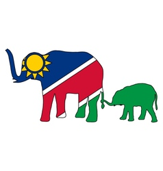 Namibia elephants vector