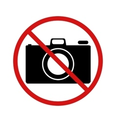 No photo forbidden sign on white vector image