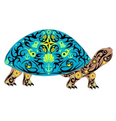 overland turtle blue vector image
