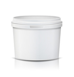 plastic bucket realistic empty clean vector image