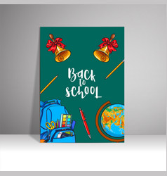 Poster with the inscription welcome to the school vector