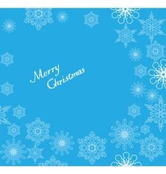 Snowflake frame christmas vector