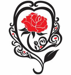 the rose vector image