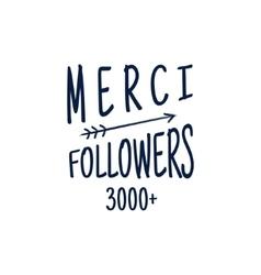 Vintage thank you badge social media follower vector