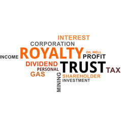 Word cloud - royalty trust vector