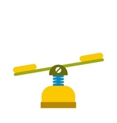 Yellow seesaw icon vector image