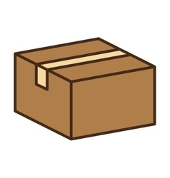 Carton box packing vector