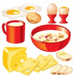 Dairy food vector