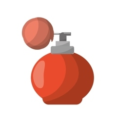 Retro fragrance bottle vector