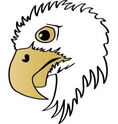 Eagle head profile vector