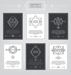 Abstract card designs set vector