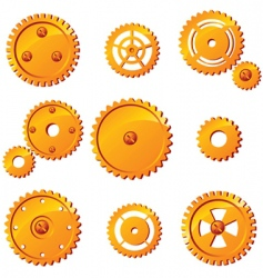 Mechanism icons vector