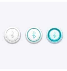 Mobile network button with bluetooth sign vector