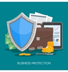 Business protection concept vector