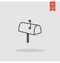 Mailbox icon flat design style vector