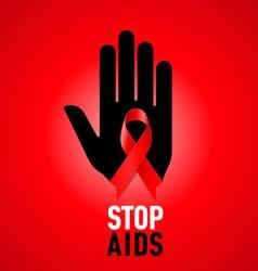STOP AIDS Symb 04 vector image