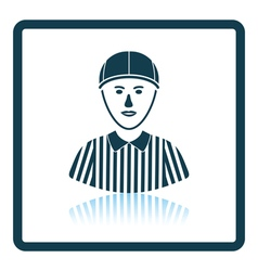 American football referee icon vector