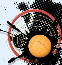 abstract basketball ball vector image vector image