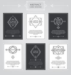 Abstract card designs set vector