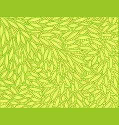 Abstract leaf doodle scene vector