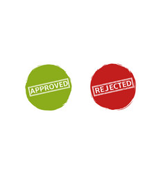 approved and rejected labels vector image