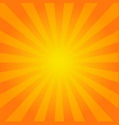 Bright orange rays background vector