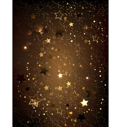 Brown Background with Stars vector image vector image