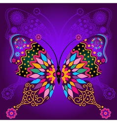 Colorful and lace butterflies vector image vector image