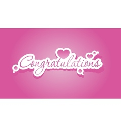 Congratulations lettering vector image vector image