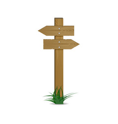 crossroads pointer wooden arrow vector image vector image