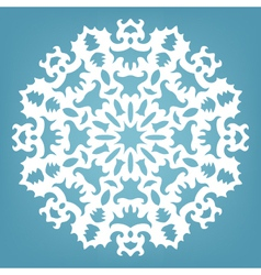 decorative snowflake Christmas lace ornament vector image vector image