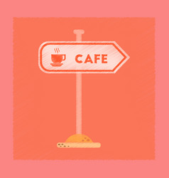 Flat shading style icon cafe sign vector