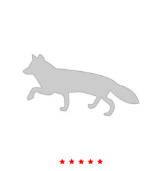 fox of silhouettes it is icon vector image