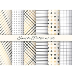 Geometric elegant beige and gray seamless pattern vector