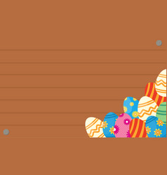 greeting card of easter egg backgrounds vector image vector image