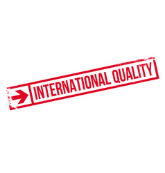 International quality rubber stamp vector