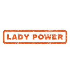 Lady power rubber stamp vector